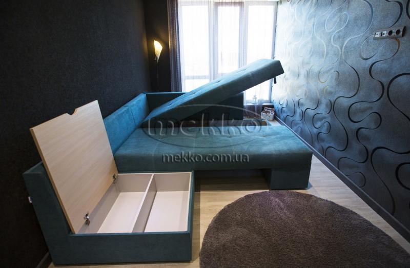 Кутовий диван з поворотним механізмом (Mercury) Меркурій ф-ка Мекко (Ортопедичний) - 3000*2150мм  Чигирин-7